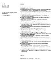It Manager Resume Sample Velvet Jobs