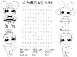 Lol Doll Coloring Pages Doll Coloring Pages Free Printable Lol Doll