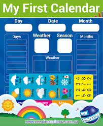 Weather Chart Magnetic My First Calendar And Weather Chart