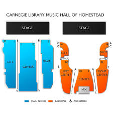 Homestead Seating Chart Carnegie Library Music Hall Of Homestead 2019 Seating Chart