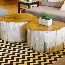 Furniture, Best Faux Tree Stump Coffee Table Ideas: Enjoying a cup of  coffee with