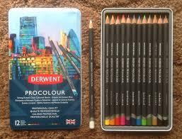 Derwent Procolour Lightfast Chart Pencils Derwent Procolour Pencils Review Artdragon86