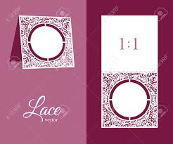 Table Number Design Cutout Wedding Invitation With Floral Lace Pattern Table Number
