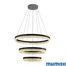 Cheap Pendant Light Fixtures New Modern 3 Circle Rings Led Pendant Lights For Living Dining Room Led Lustre Crystal Pendant Lamp Hanging Ceiling Chandeliers Luminaire