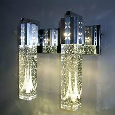 rgb led chandelier best led crystal bubble wall lamp modern crystal cylinder shape column living room