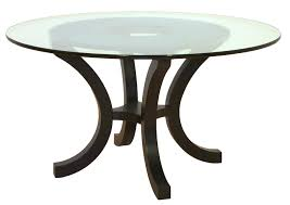 furniture transpa round glass dining tables on top curvy dark brown wooden bar legs