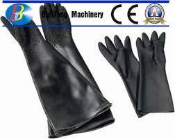 280mm width abrasive blasting gloves
