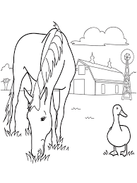 big horse colouring pages for kids free printable