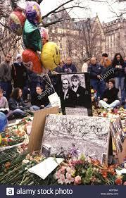 George Harrison memorial a Strawberry Fields a New York dopo la sua morte  in 2001 Foto stock - Alamy