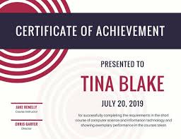 Nko Certificate Red Black Circles Achievement Certificate Templates By Canva