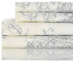 400 thread count cotton toile gray sheet set queen contemporary sheet and
