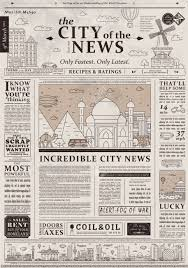 Old Fashioned Newspaper Article Template Design Of Old Vintage Newspaper Template Showing Articles With