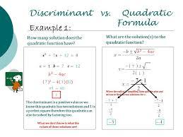 6 discriminant vs