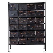 office designcom contemporary chiffonier metal black black post office b131t modern noble lacquer