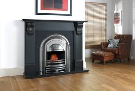 half polished victorian style electric fire