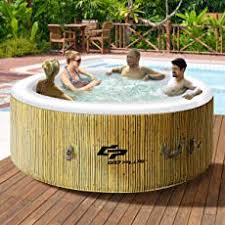 goplus 46 person outdoor spa inflatable hot tub for portable jets bubble massage relaxing outdoor hot tub r33