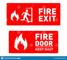 Fire Exit Sign Template Designs Printable Safety Signs And