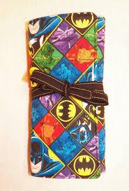 batman padded makeup brush roll dc ics art by icatcreations