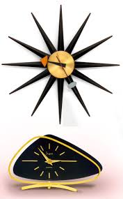 George Nelson Turbine Clock. This starburst, or spike, wall clock is from  the 1950s and is the real