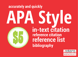 Format Or Create Citations And References In Apa Style