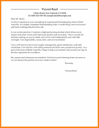 12 Housekeeper Cover Letter Boy Friend Letters