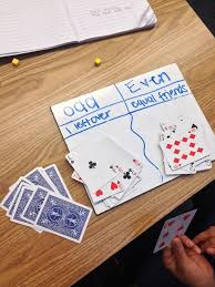 Make A T Chart The Odd And Even Card Game Make A T Chart Explaining The