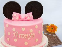 Minnie Mouse Ear Fondant Cake Disney Lush Cake Bakingo