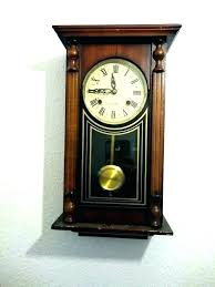 wall pendulum clock wooden clocks chimes antique vintage chime wood india