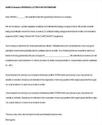 Partnership Proposal Samples Business Partnership Proposal Letter Template Text Synonym