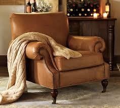 cozy furniture brooklyn. Brooklyn Leather Armchair In Toffee Pottery Barn Cozy Furniture