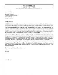 Resume Cover Letters Sample Cover Letter Examples For Teacher Resume
