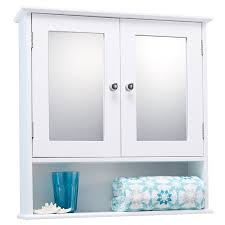 Mirror Bathroom Cabinet White Maine Single Mirrored Door Bathroom Cabinet Amazoncouk