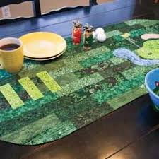 Golf quilt idea (further away photos at site) | Quilting: Appliqué ... & Golf Theme Table Runner Quilt Pattern Designed by SUE SHIPMAN and SUE KECK Adamdwight.com