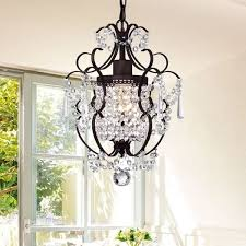 innovative bronze crystal chandelier rosalie 1 light antique bronze 11 inch crystal chandelier free