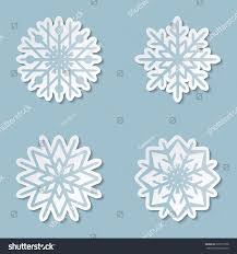 paper snowflakes 3d 3d cutout paper snowflakes set collection stock vector hd royalty