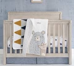 asher bear crib bedding sets pottery