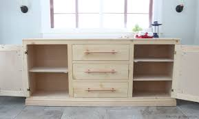 furniture white credenza with glass doors sideboard interior modern buffet cabinet ana extra long diy projects build tons storage free plans bookcase bottom