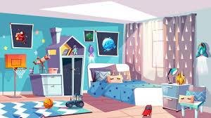 Image Kids Furniture Demo 24 Freepik Kid Boy Room Interior Illustration Of Modern Bedroom Furniture In