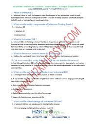 latest selenium interview questions and answers pdf flipbook latest selenium interview questions and answers 2015