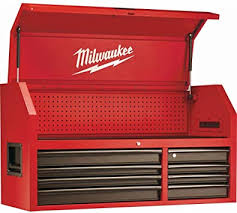Milwaukee 46 in. 8-Drawer Steel Storage Chest, Red ... - Amazon.com