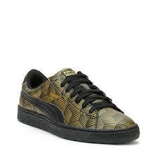 puma shoes gold. image is loading puma-basket-classic-sneakers-men-shoes-gold-black- puma shoes gold