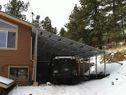 steel single slope carport