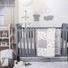 grey cloud patch 4 piece uni baby crib bedding set by the peanut shell