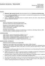 Resume Profile Inspiration Enchanting Resume Profile Examples High School With Additional