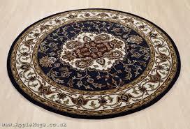 orient 347 navy blue round rug