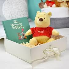 personalised disney winnie the pooh book and plush toy gift set from prezzybox