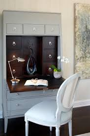inspired secretary desks in bedroom contemporary with concord ivory paint next to drop down desk alongside knotty