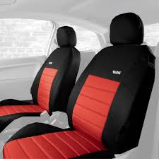 ripsd car seat covers front pair black red universal protector interior