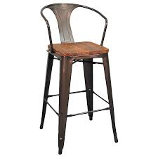 metro modern gun metal bar stool  eurway furniture