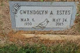 """Gwendolyn Ada """"Gwen"""" Noe Estes (1930-2015) - Find A Grave Memorial"""